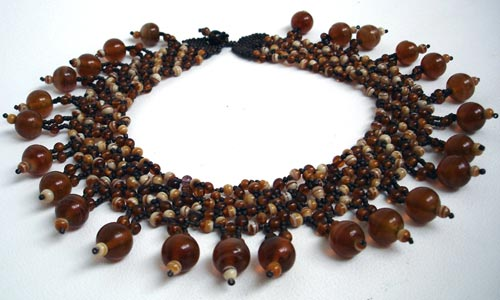 Brown Bead Choker