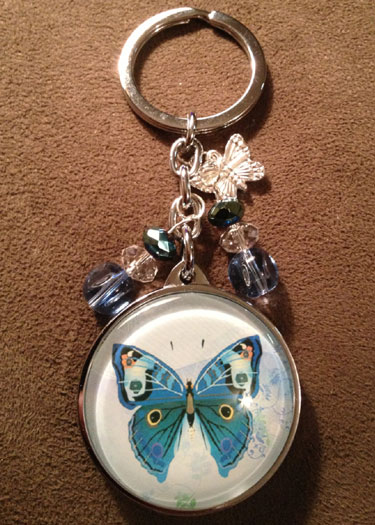 Butterfly Charm Key Chain