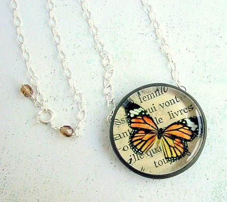 Monarch Butterfly Pendant