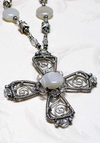 Agate Cross Necklace