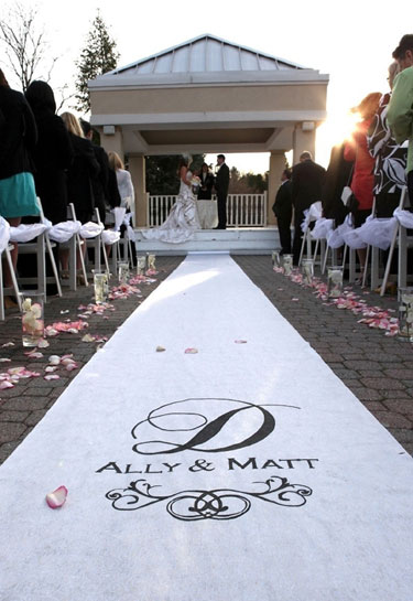 Custom Painted Wedding Aisle Runner