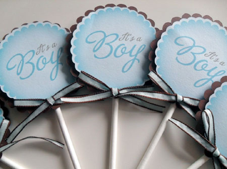 It's A Boy Baby Shower Cupcake Toppers