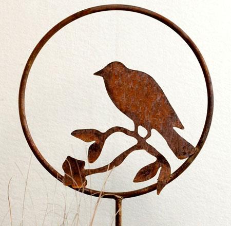 Steel Bird Sihouette Garden Stake