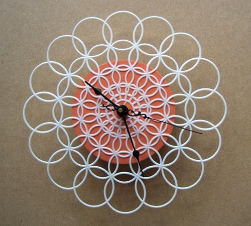 Retro Doily Clock