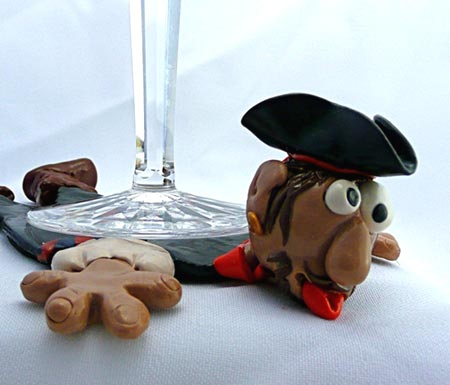 Polymer Clay Pirate Coaster