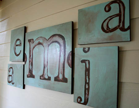 Custom Letter Block Painting