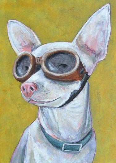 Chihuahua Portrait Painting Print