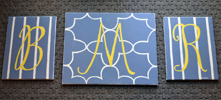 Custom Monogram Wall Art