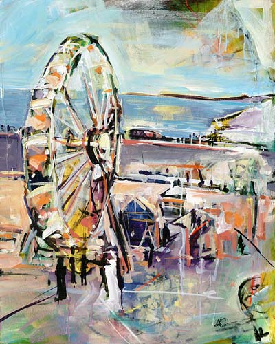 Ferris Wheel Original Painting