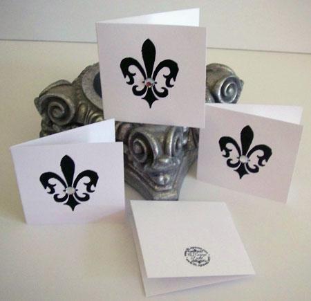 Fleur De Lis Gift Tag Cards