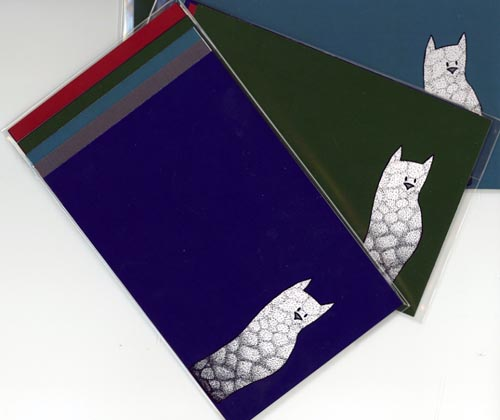 Multi-Colored Cats Card Set