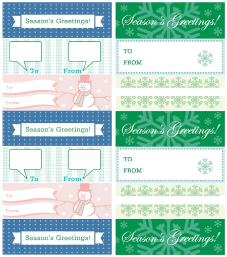 Printable Seasons Greetings Gift Tags