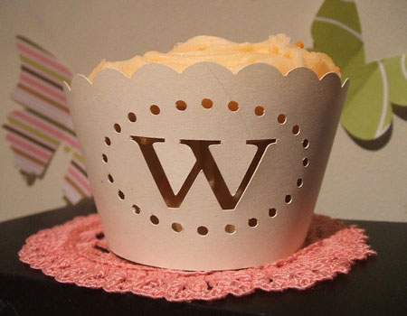 Monogram Cupcake Wrapper