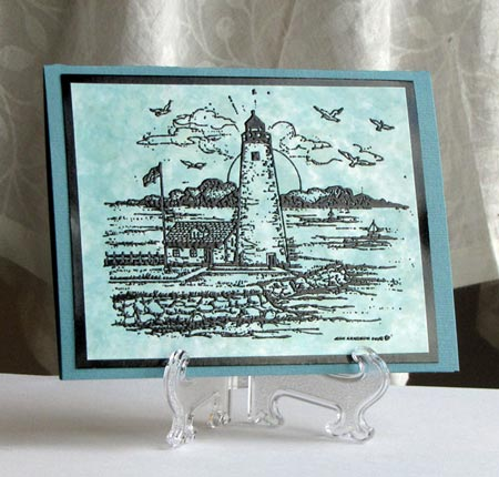 Embossed Lighthouse Greeting Cards