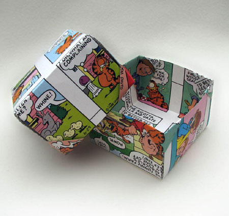 Folded Garfield Comic Box