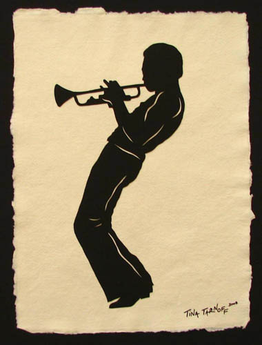 Miles Davis Paper Cut Art