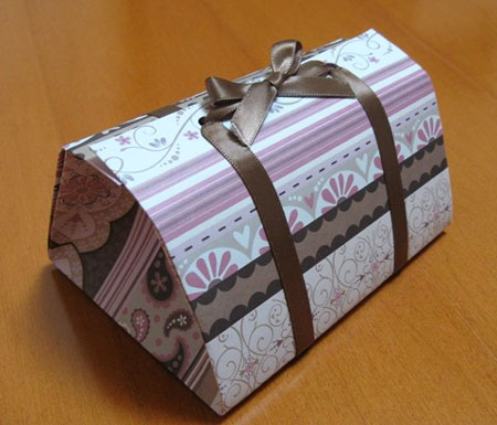 Origami Folded Gift Boxes