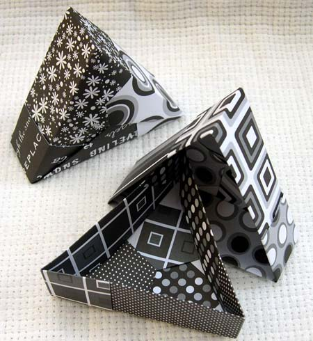 Origami Triangle Boxes