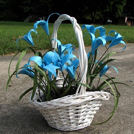 Origami Flowers in a Basket