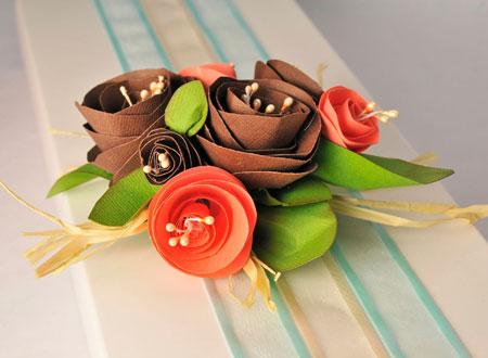 Handmade Paper Flower Bouquet Gift Topper