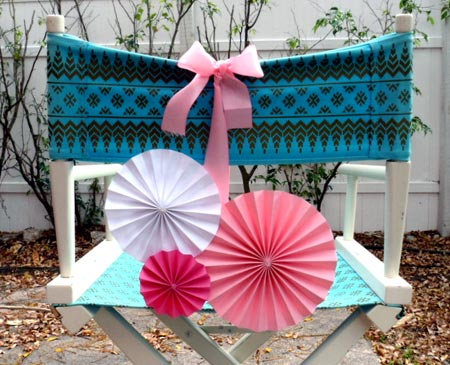 Pinwheel Chair Back Decoration