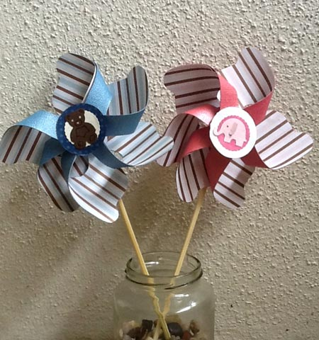 Paper Pin Wheel Decorations