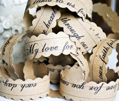 Wedding Vows Paper Chain
