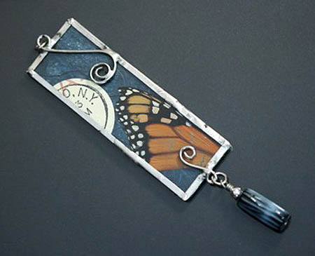 Butterfly Collage Pendant