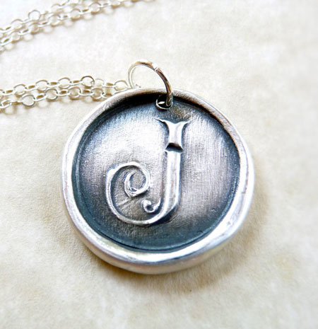 Silver Monogram Initial Pendant