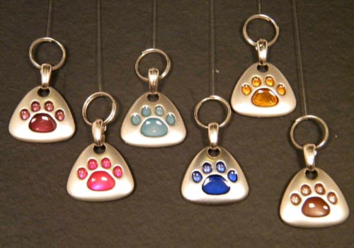 Paw Print Dog Tags