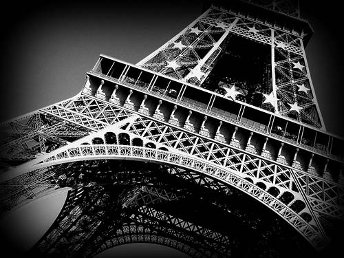 Black & White Eiffel Tower Photo Print