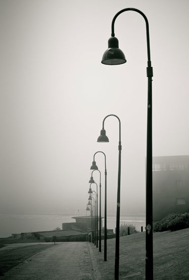 Grayscale Gijon Steet Fine Art Photography