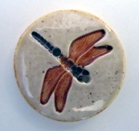 Clay Dragonfly Button