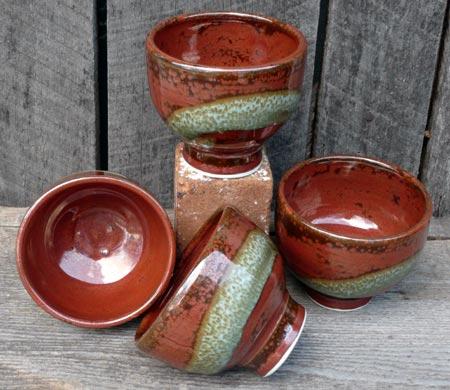 Hand-Thrown Porcelain Dessert Bowls
