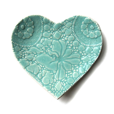 Seafoam Heart Shaped Plate