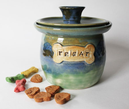 Lidded Pet Treat Jar