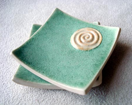 Two Inch Square Porcelain Dishes