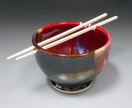 Hand Thrown Chopsticks Bowl