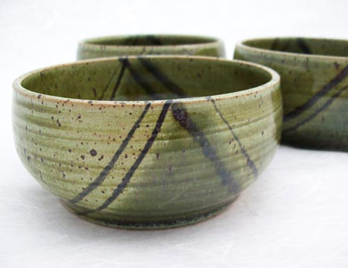 Green Stoneware Soup Bowls