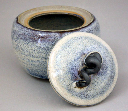 Azure Mist Ceramic Lidded Jar