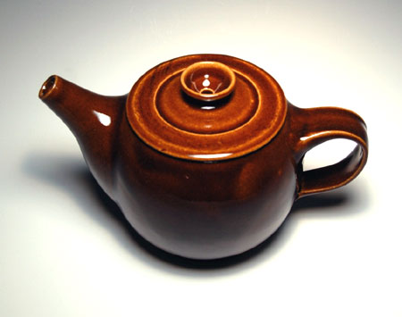 Tenmoku Glazed Stoneware Tea Pot