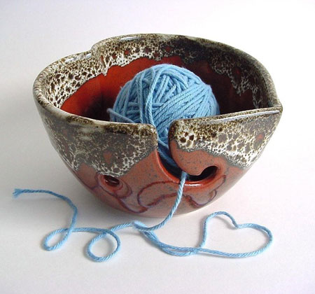 Heart Shaped Yarn Bowl