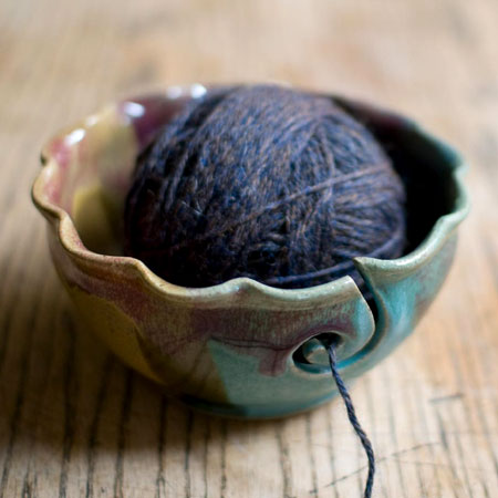Weighted Stoneware Yarn Bowl