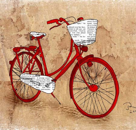 Vintage Bicycle Illustration Print