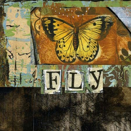 Mixed-Media Butterfly Collage