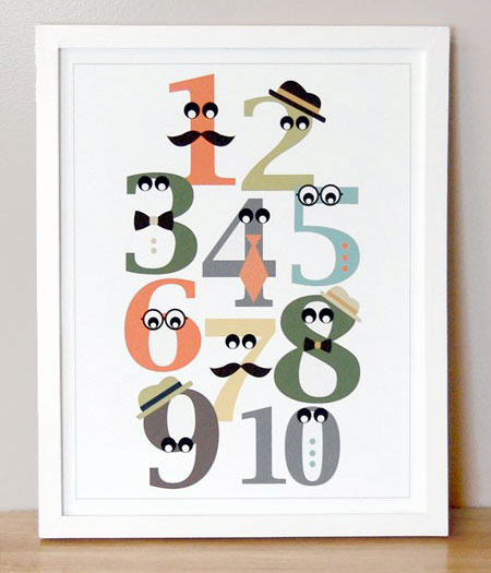 Mister Numbers Giclee Print