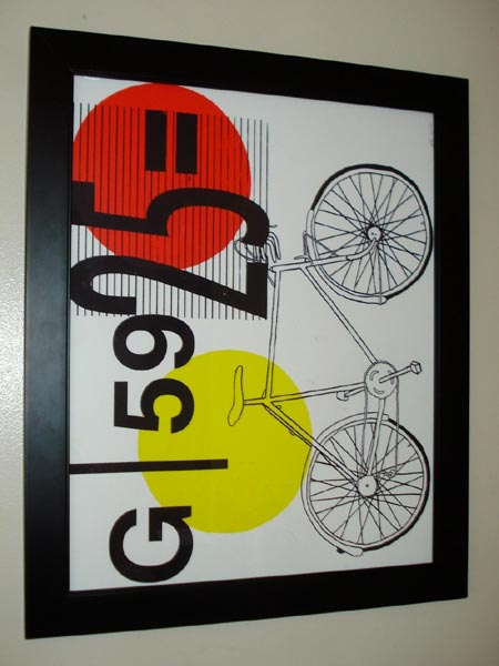 Hand Pulled Bicycle Screen Print
