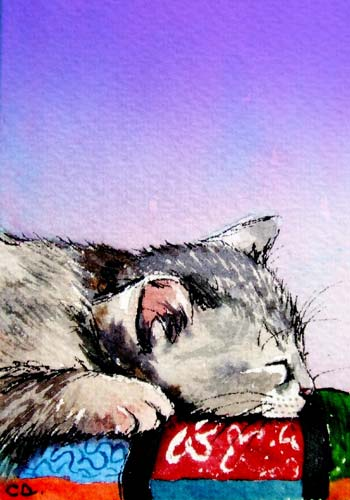 ACEO Watercolor Kitten Print