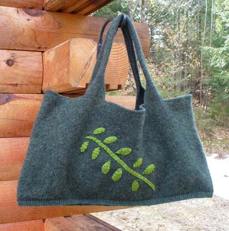 Upcycled Felted Sweater Tote