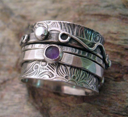Three Band Spinner Ring